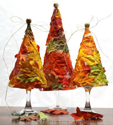 Fall Crafts: Leaf Tree Luminaries